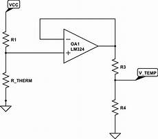 resistance replicate thermistor behavior for second sensor electrical engineering stack exchange