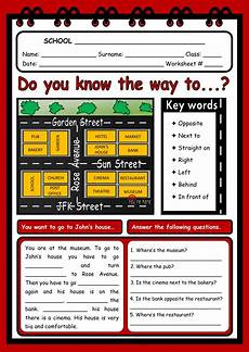 esl worksheets on directions 11836 giving directions interactive worksheet