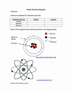atomic structure diagram worksheet atomic structure diagrams diagram chemistry