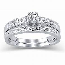 10k white gold jk i2i3 diamond bridal ring walmart