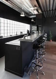 bar en béton ciré interior design decoration loft kitchen cuisine bar en