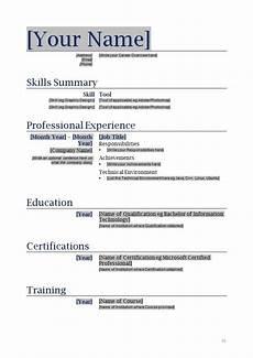 free blank functional resume template sle resume resume templates sle resume free