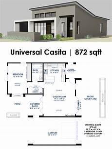modern home design floor plans universal casita house plan 61custom contemporary