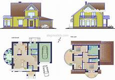 free autocad house plans dwg small family house plans cad drawings autocad file download