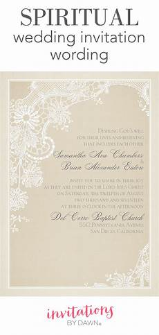 Christian Wedding Invitation Verses spiritual wedding invitation wording invitations by