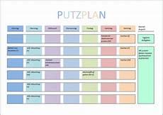 Putzplan Vorlage Planer Vorlagen