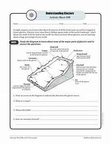 earth science glaciers worksheets 13303 glaciers geography worksheets and activities by sunflower education teachers pay teachers