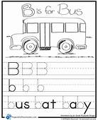 B Is For Bus Worksheet  Projects Preschoolers