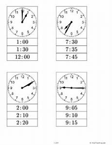 free printable telling time clip cards can practicing telling time to the nearest hour