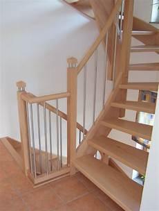 Tischlerei Neumann Treppe Aus Buche Mit Edelstahl