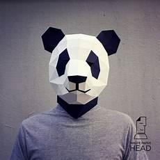 17 papercraft panda mask printable digital template