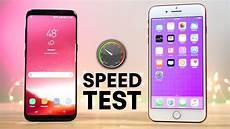 s8 test samsung galaxy s8 vs iphone 7 plus speed test