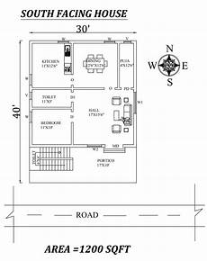 house plans as per vastu 30 x40 1bhk south facing house plan as per vastu shastra