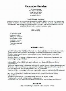1 customer service representative resume templates try