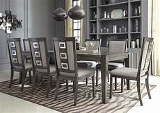 chadoni gray rectangular extendable dining room from coleman furniture