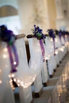 chapel ceremony enhancements tulle aisle drape white