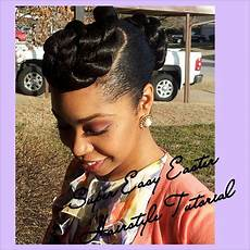 22 super easy easter hairstyle tutorial natural hair transitioning hair relaxed hair