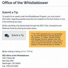 sec whistleblower rules the form tcr sec whistleblower info