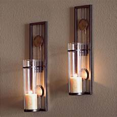 glass metal wall mounted sconces 2 pillar candle holders iron candles sconce ebay