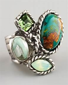 yves laurent four arty ring green smykker