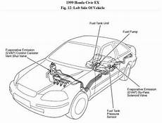 99 fuel filter location 1999 honda civic find fuel filter engine performance problem 1999
