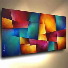 modern abstract contemporary giclee canvas print of a