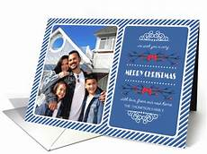 merry christmas from our new home custom photo name card 1343188