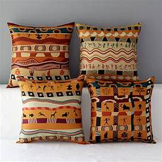 Decorative Cushions For Sofa by 18 Quot Square Colorful Cushion Tribe Cotton Linen