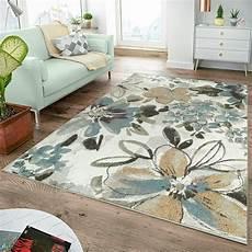 wohnzimmer teppiche moderner teppich wohnzimmer teppiche blumen muster creme