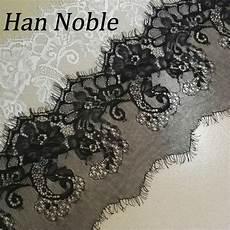 han noble lace trim flower black white lace fabric wedding decoration diy clothes 15cm wide