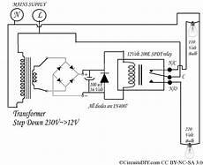 fixture wiring diagram 110v 230v 220 volt to 110 volt auto bulb changer circuit circuits diy
