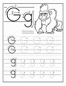 free traceable alphabet worksheets gorilla letter tracing worksheets letter g activities