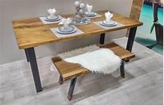 Table De Cuisine Rustika En Bois M 233 Tal Table 224 D 238 Ner