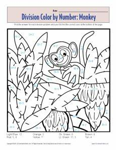 division worksheets coloring 6132 22 to do division color by number printables baby