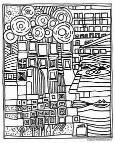 Malvorlage Hundertwasser Haus Hundertwasser Style Line Feel Free To Use It