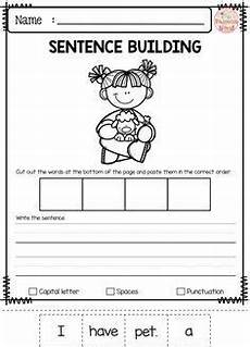 free printable writing sentences worksheets for kindergarten 22201 free sentence building with images sentence building kindergarten writing sentence