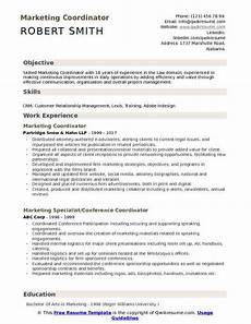 resume objective marketing coordinator marketing