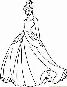 cinderella disney princess coloring page free cinderella