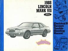 service and repair manuals 1988 lincoln continental mark vii electronic toll collection shop manual mkvii service repair 1988 lincoln mark vii continental electrical ebay