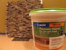 Mastic For Glass Tile Backsplash
