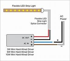 schematic led strip 88light led light to driver and adapter