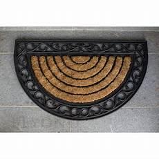 Half Doormat by Doormat 45x75cm Half Moon Coir Heavy Duty Door Mat Rubber