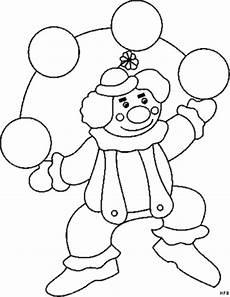 clown gezicht kleurplaat kleiner clown jongliert