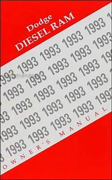 old car owners manuals 1993 dodge ram wagon b350 security system 1993 dodge diesel ram pickup truck original owner s manual 93
