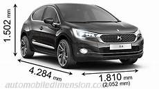 dimension ds4 crossback dimensions des voitures ds avec longueur largeur et hauteur