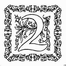 Malvorlagen Mit Zahlen Zahl 2 Mit Ornamenten Ausmalbild Malvorlage Zahlen