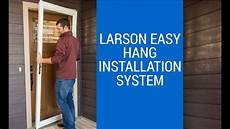 how to install a larson storm door youtube