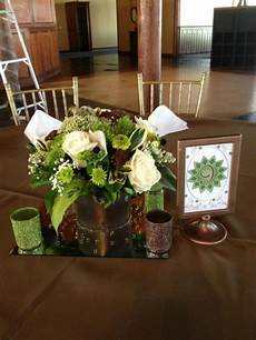 wedding decoration green and brown olive green brown and center pieces weddingbee photo gallery