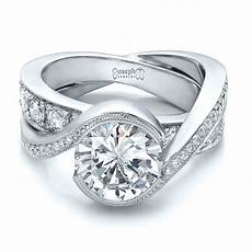 custom interlocking diamond engagement ring 100615 seattle bellevue joseph jewelry