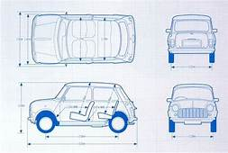 Mini Blue Print  Morris Classic